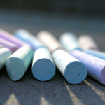 A photograph of some chalk