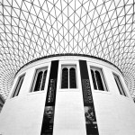 A photograph of the geodesic dome of the British Museum